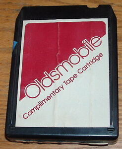 Olds Dealer Complimentary 8 Track Tape Cartridge Used Oem 4842