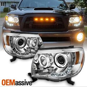 05 11 Tacoma Pickup Halo Projector Led Headlights Lamps Replacement Left Right