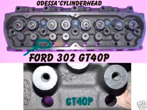 Ford Explorer Mountaineer 5 0 Ohv Iron 302 Sbf Gt40p V8 Cylinder Head No Core