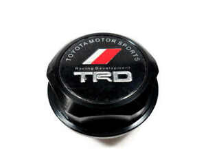 New Black Trd Racing Oil Filler Cap Oil Tank Cover Aluminium For All Toyota Car