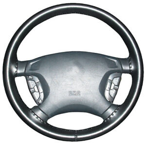 Genuine Leather Black Wheelskins Steering Wheel Cover For A Nissan size C