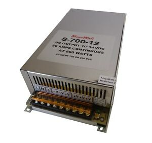 50 Amp Continuous 10 5 14 Volt Power Supply For Led Lighting 12 Real Megawatt