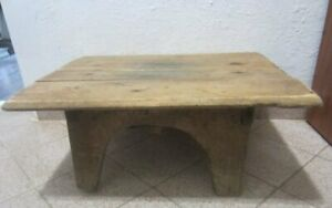 22 5 Antique Primitive Wooden Rustic Low Dining Or Coffee Table