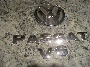 Vw Passat Chrome Emblem 2003 Rear Trunk Badge Genuine Oem