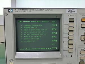 Agilent hp 4145b Semiconductor Parameter Analyzer 16058a Test Fixture