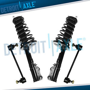 Pair 2 Rear Coil Spring Shock Strut Assembly Rear Sway Bar End Link Set
