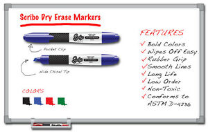 Qty 288 Dry Erase Markers Scribo Expo Chisel Tip Low Odor