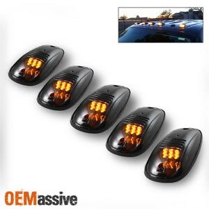 Truck Suv 5pcs Smoked Lens Roof Top Full Amber Led Running Parking Cab Lights