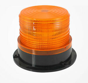 Led Car Bus Beacon Strobe Emergency Warning Alarm Flash Light Amber Dc12v 60v Pa
