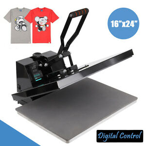 Digital Clamshell Heat Press Transfer T shirt Sublimation Machine 16 X 24
