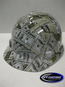 New Custom Msa V Gard Short Brim Hard Hat Money Pattern