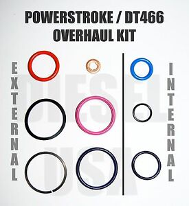 7 3l Ford Powerstroke Injector Oring Seal Kit 1833564c92 Ap0001 Dps0008 Dps0007