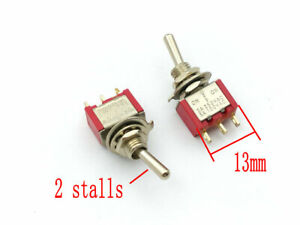 100pcs 3 Pin On on Spdt 2 Stalls Switch Ac 5a 120 V 2a 250v Adapter