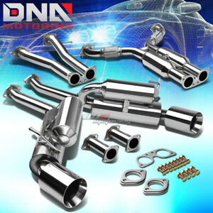4 5 Dual Rolled Tip Stainless Exhaust Catback System For 350z G35 Fairlady Z33