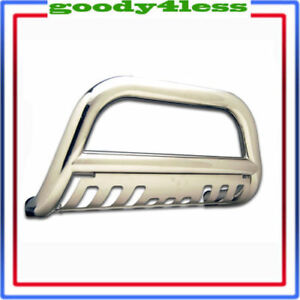 3 For 07 14 Silverado Sierra 2500 3500 Hd S Steel Bull Bar Bumper Guard