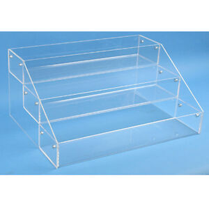 Countertop Acrylic Display 3 Tier Organizer Bin Make Up Jewelry Etc