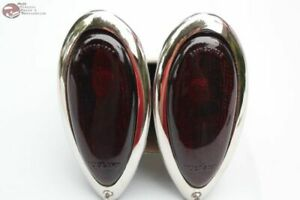 Ford Hot Rat Street Rod Custom Car Truck Red Tail Lamp Light Assemblies Set New