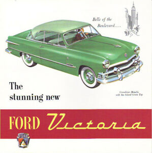 1951 Ford V 8 Victoria Sales Brochure