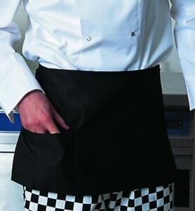 204 Pc Black Waiter Waitress Server 3 Pocket Waist Apron