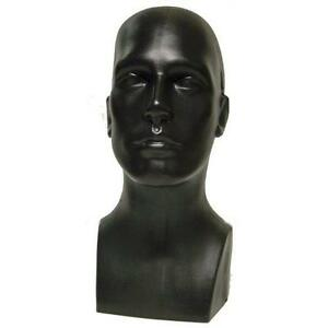 Head Male Manikin Face Mannequin Hat Wig Holder Glasses Hats Display Men Black