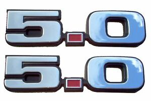 1979 1993 Mustang 5 0 Chrome Emblem Set Of Two