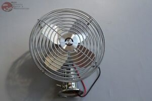 Chrome Heavy Duty Inside Interior Fan Hot Rat Street Rod Cab Custom Car Truck