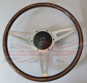 New 15 Laminated Wood Steering Wheel Hub Adapter Sunbeam Alpine Tiger