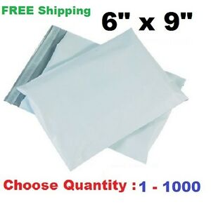 6x9 Poly Mailers Shipping Envelopes Plastic Self Sealing Mailing Bags Buy 1 1000