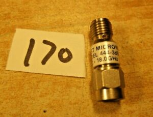 Attenuator Sma 3db 2w 18 Ghz Midwest 444 3 New