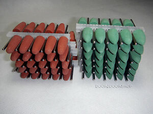 110 Pcs Silicone Rubber Polishers Resin Base Acrylic Hp Burs 2 35mm 2 Colors
