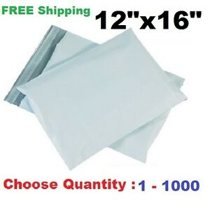 12x16 Poly Mailers Shipping Envelopes Plastic Self Sealing Mailing Bags 1 1000