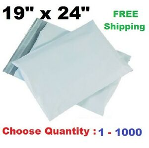 19x24 Poly Mailers Plastic Shipping Envelopes Self Sealing Mailing Bags 1 1000