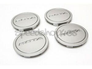 Rota Wheels Center Caps Hyper Silver Z Cap 4pcs Replacement G Force Torque Grid