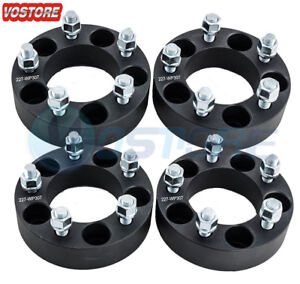 4 Pcs 1 5 Wheel Spacers Black 5x4 5 Fits Ford Edge Mustang Lincoln Mercury