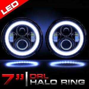 7 Inch Round Led Headlights Halo Angel Eyes For 1997 2018 Jeep Wrangler Jk Jku