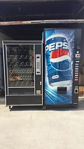 Pepsi Soda Vending Machine 8 Selection Glass Front Snack Vending Machine
