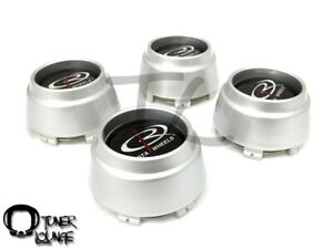 Rota Wheels Center Caps Silver 4pcs Replacement Set P45r P45 Rb