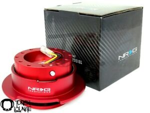 Nrg Steering Wheel Quick Release Gen 2 5 Red Body With Red Ring Srk 250rd Honda