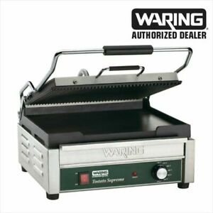 Waring Wdg250 Commercial Panini Grill Ribbed Top And Flat Bottom Also A Grill P