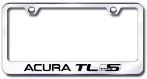 Acura Tl S type Laser Etched Stainless Steel License Plate Frame Xxxlf atls ec