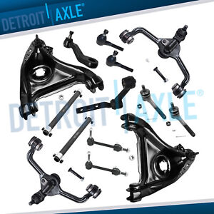 New 14pc Front Upper Lower Control Arms W Ball Joints Tie Rod Ends Idler Pitman