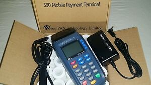 Pax S90 3g Gprs 192mb Wireless V 3 Terminal printer emv contactless Refurbished