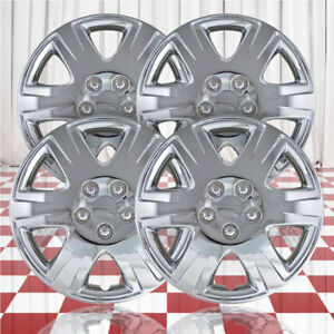 15 Push on Chrome Hubcaps For 2005 2008 Toyota Corolla qty Four