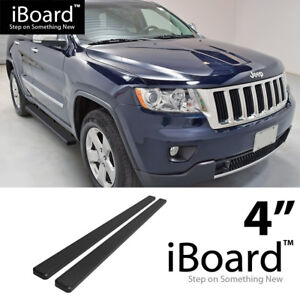 Running Board Side Step Nerf Bars 4in Black Fit Jeep Grand Cherokee 11 19