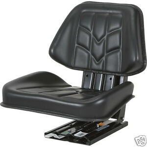 Deluxe Black Trapezoid Suspension Seat farm Utility tractor forklift mower nb