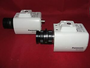 Panasonic Wv cp314 Cctv Camera W Computar 50mm Lens lot Of 2