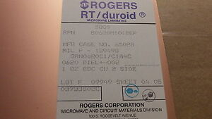 5 Shts 8 X12 Rogers H frequency Laminates Rt duroid 062 1 Oz Double Sided