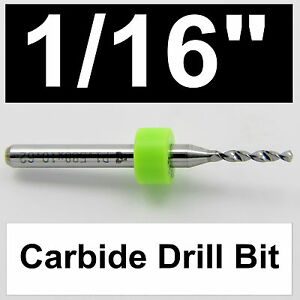 1 16 1 60mm One Carbide Drill Bit 400 Depth Models Hobby Pcb Cnc Dremel