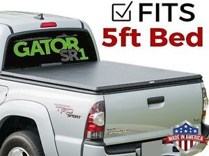 Gator Sr1 Roll Up Fit 2005 2019 Nissan Frontier 5ft Soft Tonneau Truck Bed Cover
