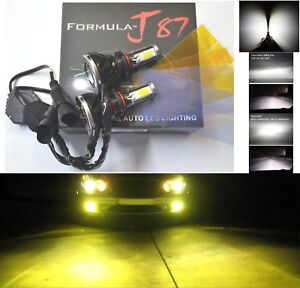 Led Kit G5 80w 9140 3000k Yellow Two Bulbs Fog Light Replacement Upgrade Lamp Oe